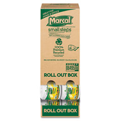 Marcal Small Steps 100% Recycled Roll-out Convenience Pack Bathroom Tissue, 504 Sheets/Roll