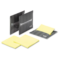 Post-it Laptop Notes Super Sticky Laptop Note Dispenser, 3 x 3, Gray, 3 per Pack