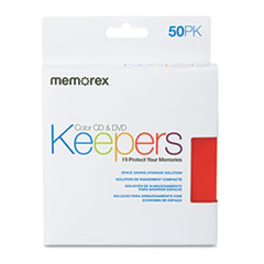 Memorex CD/DVD Sleeves, 50/Pack