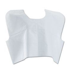 Medline Disposable Patient Capes, 3-Ply T/P/T, White 100/Carton