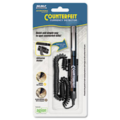 MMF Industries Counterfeit Currency Detector Pen with Holder