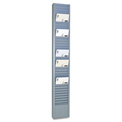 SteelMaster 40-Pocket Steel Swipe Card/Badge Rack, 2 15/16 x 18 11/16