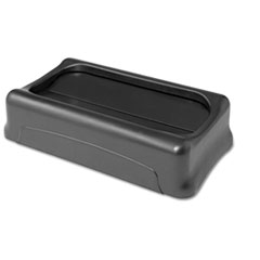 Rubbermaid Commercial Swing Top Lid for Slim Jim Waste Containers, 11-3/8 x 20-3/8, Plastic, Black