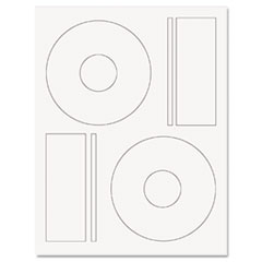 Guided Laser CD/DVD Labels, Matte White, 50 Labels per Pack