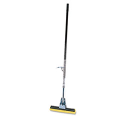 Rubbermaid Commercial Steel Roller Sponge Mop, Bronze Handle w/12