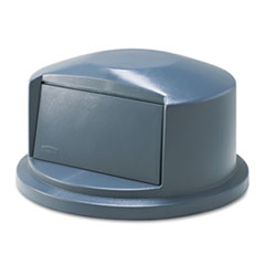 Rubbermaid Commercial Brute Dome Top Swing Door Lid for 32-Gallon Waste Containers, Plastic, Gray