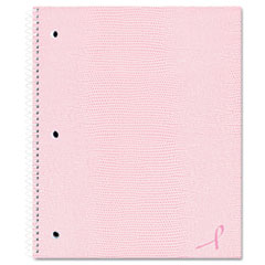 Pink Ribbon Notebook, College/Margin Rule, 11 x 8-7/8, White Paper, 80 Sheets