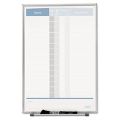 Quartet Matrix Employee Tracking Board, 11 x 16