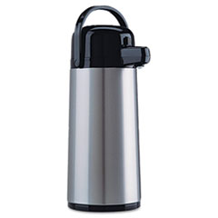 Coffee Pro Direct Brew/Serve Insulated Airpot with Carry Handle, 2.2 L, Stainless Steel