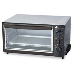 Coffee Pro Multi-Function Toaster Oven with Multi-Use Pan, 15 x 10 x 8, Black/Stainless