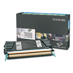 Lexmark C5246KH High-Yield Toner, 8000 Page-Yield, Black