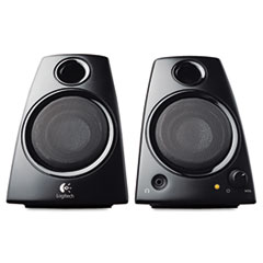 Logitech Z130 Compact Laptop Speakers, 3.5mm Jack, Black