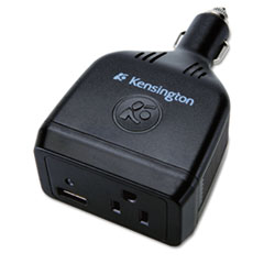 Kensington Auto Power Inverter w/USB Port, 90 Watt, Black
