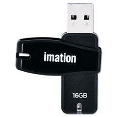 imation Swivel USB 2.0 Flash Drive, 16 GB