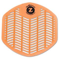 Impact Z-Screen Deodorizing Urinal Screen, Citrus Zest, Orange, 12/Box