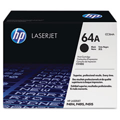 CC364AG (HP 64A) Government Smart Toner Cartridge, 10000 Page-Yield, Black