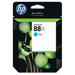 C9391AN (HP 88XL) Ink, 1700 Page-Yield, Cyan