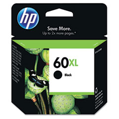 CC641WN (HP 60XL) Ink Cartridge, 600 Page-Yield, Black