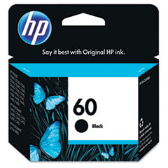 CC640WN (HP 60) Ink Cartridge, 200 Page-Yield, Black