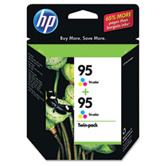HP 95, (CD886FN) 2-pack Tri-color Original Ink Cartridges