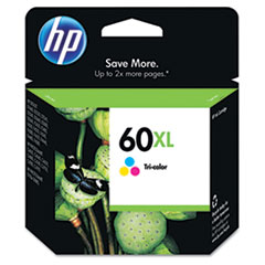 CC644WN (HP 60XL) Ink Cartridge, 440 Page-Yield, Tri-Color