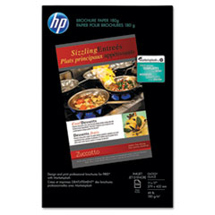 HP Inkjet Brochure/Flyer Paper, 98 Brightness, 48lb, 11 x 17, White, 150 Shts/Pk