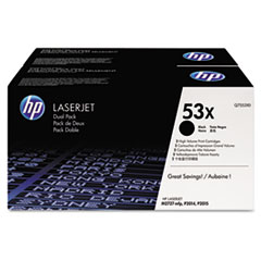 Q7553XD (HP 53X) Toner Cartridge, 7000 Page-Yield, 2/Box, Black