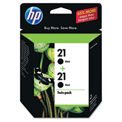 C9508FN (HP 21) Ink Cartridge, 190 Page-Yield, 2/Pack, Black
