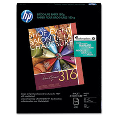 HP Inkjet Brochure/Flyer Paper, 103 Brightness, 48lb, 8-1/2 x 11, White, 150/Pack