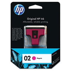 C8772WN (HP 02) Ink Cartridge, 370 Page-Yield, Magenta
