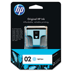 C8774WN (HP 02) Ink Cartridge, 220 Page-Yield, Light Cyan