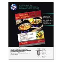 HP Inkjet Brochure/Flyer Paper, 98 Brightness, 48lb, 8-1/2 x 11, White, 150/Pack