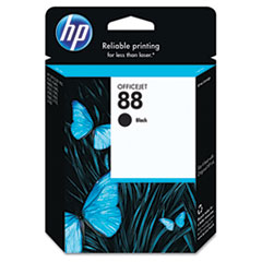 C9385AN (HP 88) Ink Cartridge, 850 Page-Yield, Black