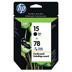 C8789FN (HP 15; HP 78) ink , 500;560 Page-Yield, 2/Pack, Black; Tri-Color