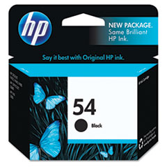 CB334AN (HP 54) Ink Cartridge, 600 Page-Yield, Black