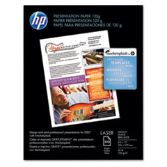 HP Color Laser Presentation Paper, 97 Brightness, 32lb, 8-1/2 x 11, White, 250/Pack