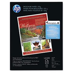 HP Color Laser Brochure Paper, 98 Brightness, 40lb, 8-1/2 x 11, White, 150 Shts/Pk