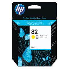 HP 82, (CH568A) Yellow Original Ink Cartridge