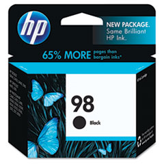 C9364WN (HP-98) Ink Cartridge, 420 Page-Yield, Black