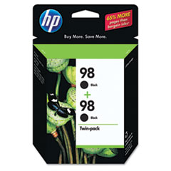 C9514FN (HP 98) Ink Cartridge, 420 Page-Yield, 2/Pack, Black