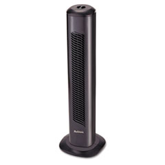 Holmes Oscillating Tower Fan, Three-Speed, Black, 5 9/10