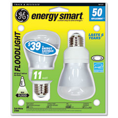 GE Compact Fluorescent Bulb, 14 Watt, R20 Reflector, Soft White, 2/Pack