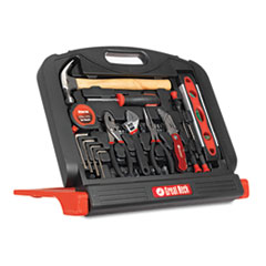 Great Neck 48-Tool Set in Blow-Molded Case, Black
