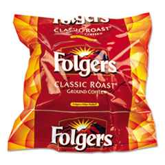Folgers Coffee Filter Packs, Classic Roast, .9oz, 160/Carton