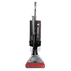 Electrolux Sanitaire Sanitaire Commercial Lightweight Bagless Upright Vacuum, 14lb, Gray/Red