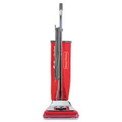Electrolux Sanitaire Heavy-Duty Commercial Upright Vacuum, 17.5 lbs, Chrome/Red