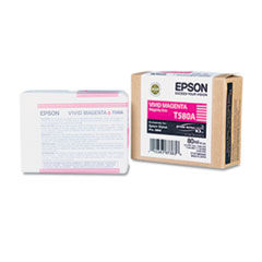 Epson T580A00 UltraChrome K3 Ink, Vivid Magenta