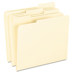 Anti Mold and Mildew File Folders, 1/3 Cut Top Tab, Letter, Manila, 100/Box