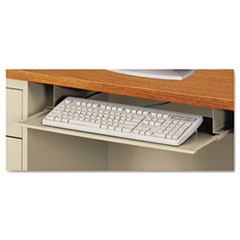 Steel Keyboard Drawer, 23 x 14, Putty