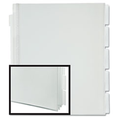 Pendaflex I-Organize Five-Tab Display Book, Letter, Clear